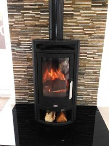 abx 6kw arktis wood burning stove with external air